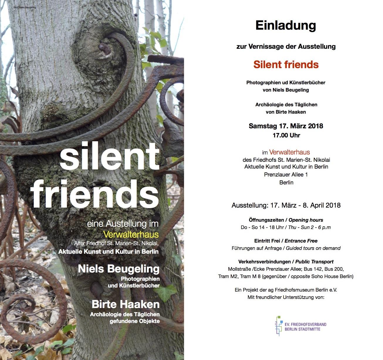 EINLADUNG_UITNODIGING_Silent Friends ausstellung Berlin 2